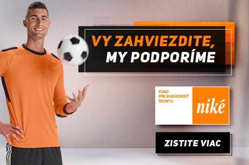 Fond pre budúcnosť športu Niké - získaj podporu pre seba alebo svoj klub!