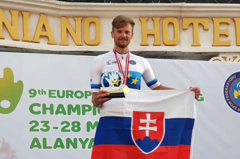 Adrián Babič prináša z ME nepočujúcich v cyklistike zbierku medailí