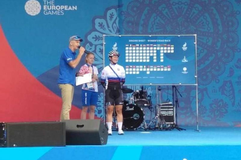 Bačíková pri premiére na Európskych hrách 57.