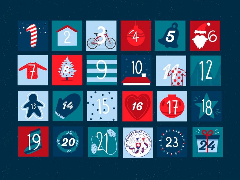 Slovenský zväz cyklistiky pripravil špeciálny adventný kalendár