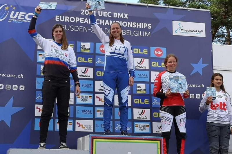BMX: Kristína Madarásová vicemajsterkou Európy v bikrose